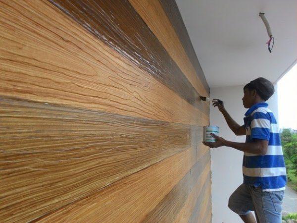 sơn hoàn thiện hàng rào gỗ công nghiệp